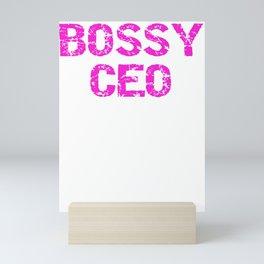 Entreprenuer Bossy CEO Pink Lady Boss Mini Art Print