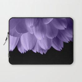 Ultra violet purple flower petals black Laptop Sleeve