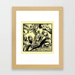 Comic X Framed Art Print
