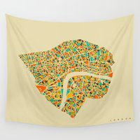 london Wall Tapestries featuring London by Nicksman