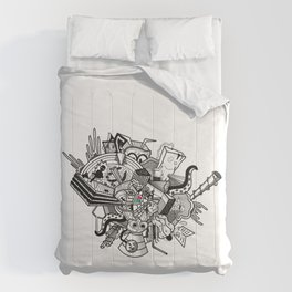 Abstract Combination Crazy Cartoons Comforters