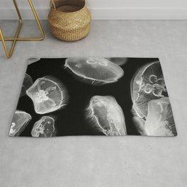 Jellyfish Photography | Wildlife Art | Nature | Black and White Photography Rug