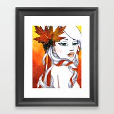 October  Framed Art Print