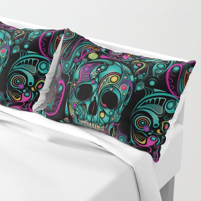 Skull Camouflage Pillow Sham