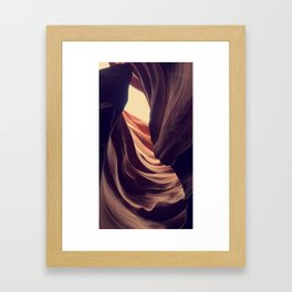 Wind Kissed Canyons Framed Art Print