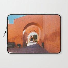 Silencio at the Santa Catalina Monastery, Arequipa, Peru Laptop Sleeve