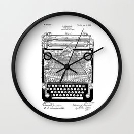 patent art Granville Type Writer 1900 Wall Clock