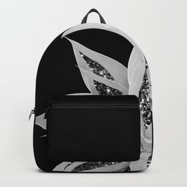 Gray Agave with Black Silver Glitter #2 #shiny #tropical #decor #art #society6 Backpack