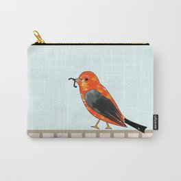 lonely bird walking with the worm Carry-All Pouch