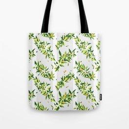 Orange Blossom Stripes Tote Bag