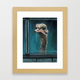 Get Off My Lawn Framed Art Print