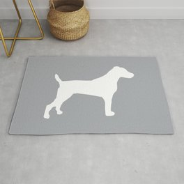 Jack Russell Terrier gray and white minimal dog pattern dog silhouette Rug