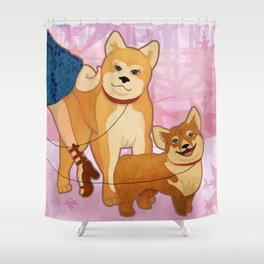 Woof La La Shower Curtain