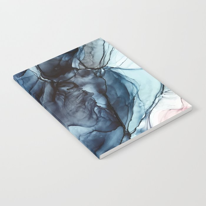 Blush and Darkness Abstract Paintings Notebook