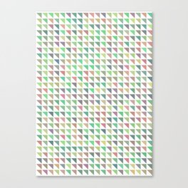 edge of autumn geometric pattern Canvas Print