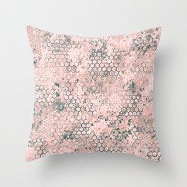 Blush Odyssey Throw Pillow