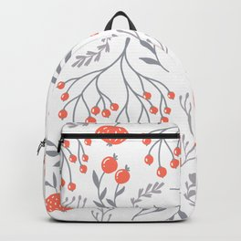 Red Berry Floral Backpack