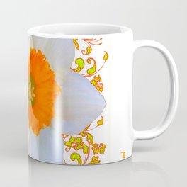 SPRING DAFFODIL SCROLLS ART GARDEN PATTERN Coffee Mug