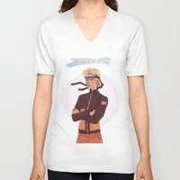 kakashi V-neck T-shirts featuring Dattebayo! by Nowhere Little Girl
