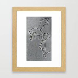 bird dancing Framed Art Print
