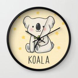 SAVE THE  KOALA Wall Clock