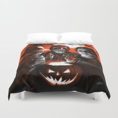Freddy Krueger Jason Voorhees Michael Myers Super Villians Holiday Duvet Cover