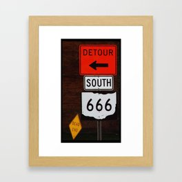 Highway to Hell  *or* Roadsigns to Perdition Framed Art Print