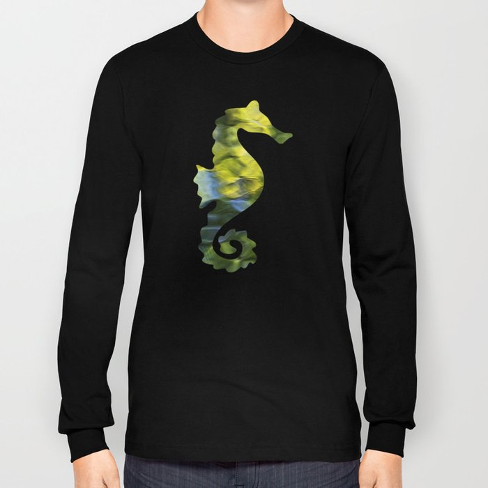 Sea Breeze Mosaic Abstract Art Long Sleeve T-shirt