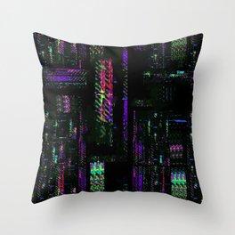 Miami Glitch Throw Pillow