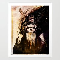 punisher Art Prints featuring Punisher by hbCreative