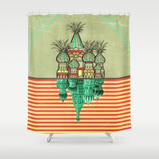 Pineapple architecture  Shower Curtain