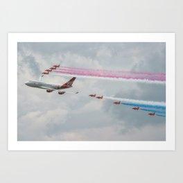 Virgin Atlantic with the Red Arrows Art Print