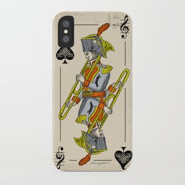 musical poker / trombone iPhone Case