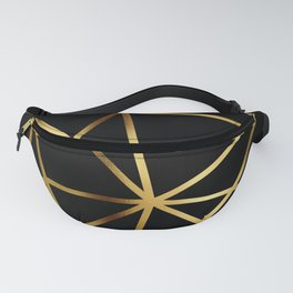 In Gold Triangles. Art Deco. Fanny Pack