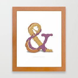 Peanut Butter & Jelly Framed Art Print
