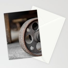 Wheel of Warehouse Freight Dolly Still Industrial Circles Stationery Cards