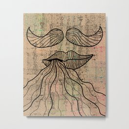 mustaches Metal Print