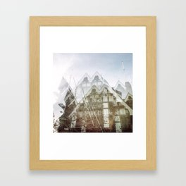 san francisco double exposure, gothic edit Framed Art Print