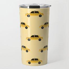 New York City, NYC Yellow Taxi Cab Travel Mug