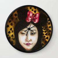 minnie Wall Clocks featuring minnie by NAME THEGREY