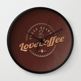 Love Coffee Wall Clock