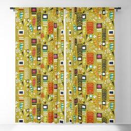 tiki yellow Blackout Curtain