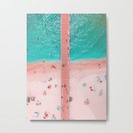 beach with a bridge Metal Print