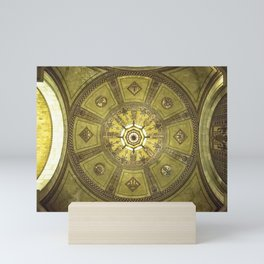 LA City Hall Rotunda Ceiling Mini Art Print