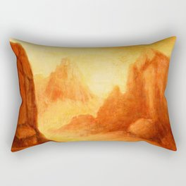 Mystic Canyon  hand painted landscapes Rectangular Pillow