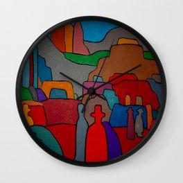 pre columbian king Wall Clock