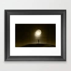 Moon Play Framed Art Print