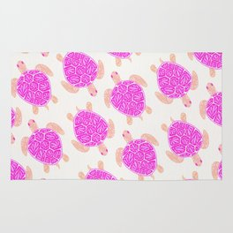 Sea Turtle – Pink Palette Rug