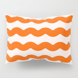 Winter 2019 Color: Unapologetic Orange on Pink Waves Pillow Sham