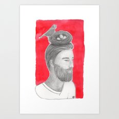 Nest-head Art Print